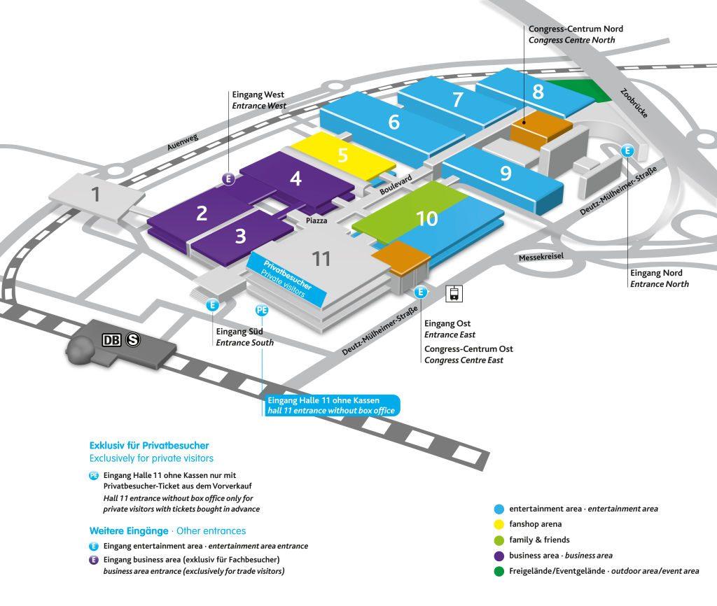 Die Hallen 2, 3 und 4 der Gamescom 2016 sind dem Fachpublikum vorbehalten.