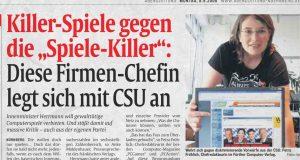 """Protestaktion vor acht Jahren: Die Aktion """"Ich wähle keine Spiele-Killer"""" (Foto: Abendzeitung Nürnberg)"""