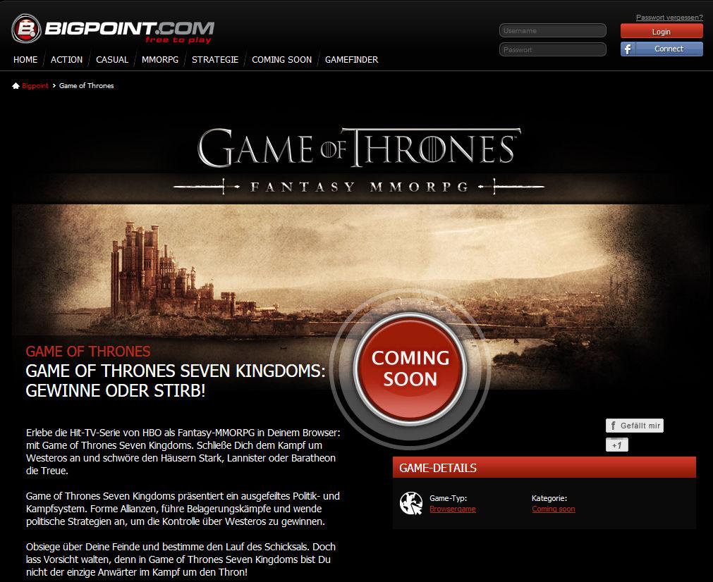 Coming soon: Das Game of Thrones-Online-Rollenspiel ist seit Jahren in der Entwicklung.