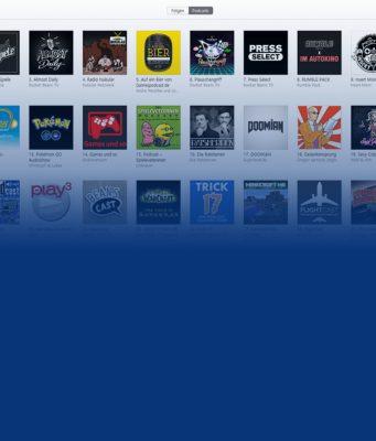 """Die erfolgreichsten Games-Podcasts sind bei iTunes in der Rubrik """"Spiele & Hobbys"""" zu finden."""