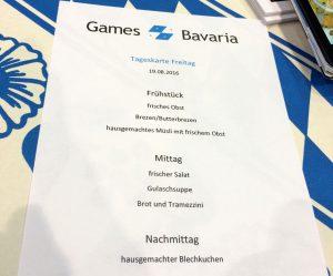 A la carte: Nicht nur der Gemeinschaftsstand Games Bavaria kredenzte lokale Spezialitäten.