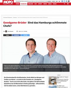Lokalmedien wie die Hamburger Morgenpost berichteten ausführlich über die Kündigungen bei Goodgame Studios.