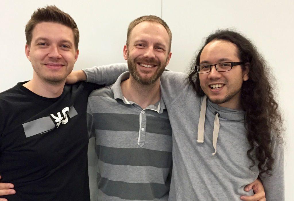 Die drei Frage-Reichen von Insert Moin: Daniel Raumer, Manuel Fritsch und Michael Cherdchupan.