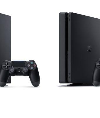 PlayStation 4 Pro und PlayStation Slim im Vergleich.