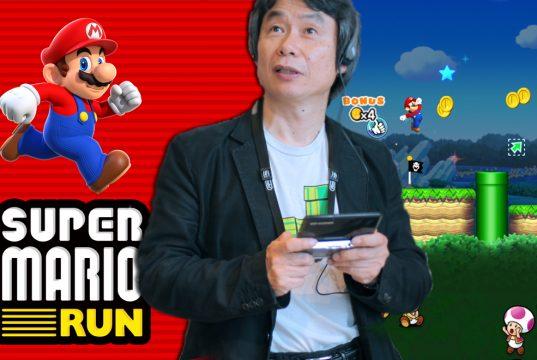 Nintendos Chef-Kreativer Shigeru Miyamoto stellte Super Mario Run auf der Apple-Pressekonferenz vor.