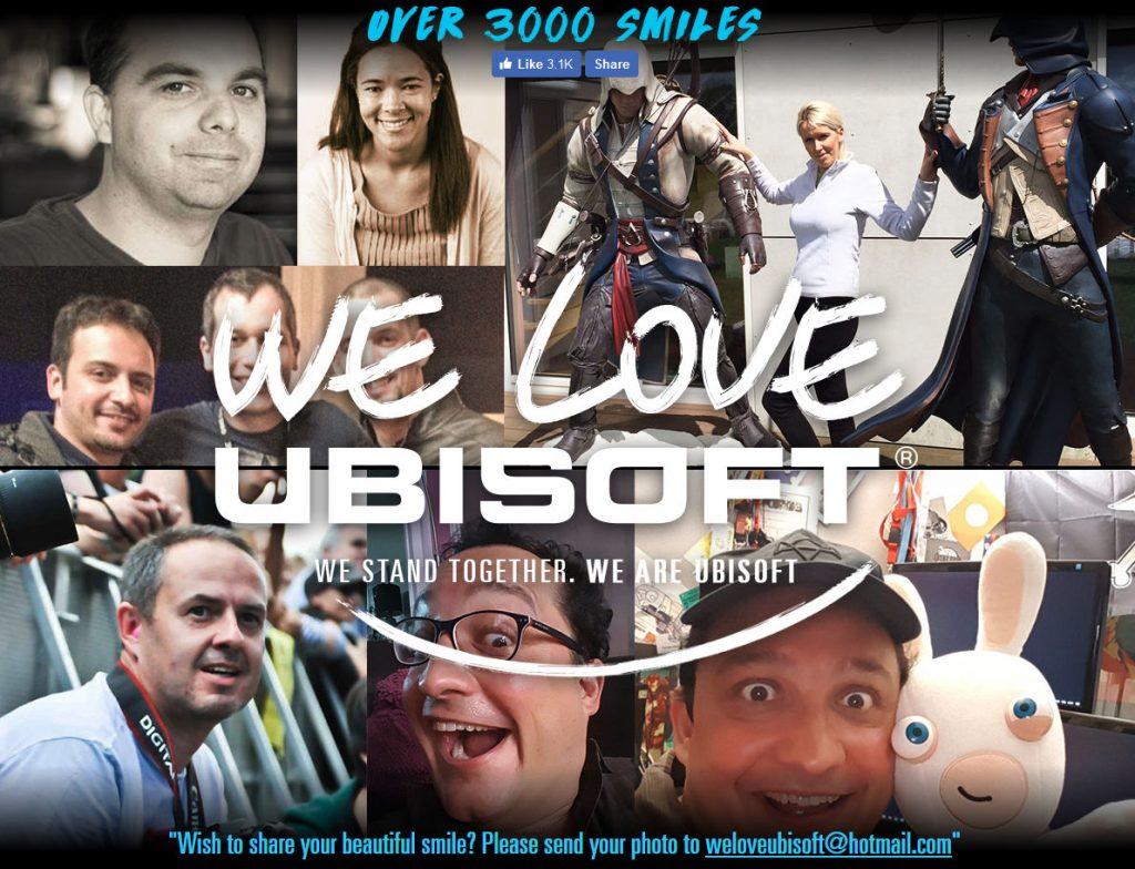 Auf Websites wie weloveubisoft.com bekunden Mitarbeiter und Fans ihre Zuneigung zum Publisher.