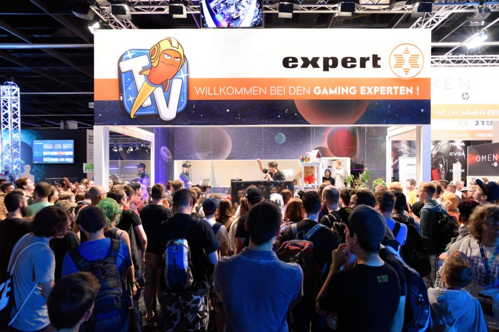 2016 stellte Expert erstmals auf der Gamescom aus. Die 2017-Standbuchung ist bereits fix (Foto: Expert)