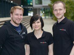 Holocafé-Gründer Oliver Eberlei, Jessica Karger, Sebastian Kreutz (Foto: NUK e. V.)