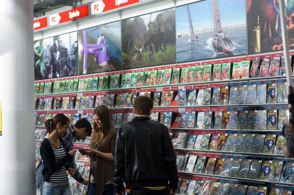 Media Markt ist Deutschlands größter Händler für Computer- und Videospiele (Foto: Media Markt).