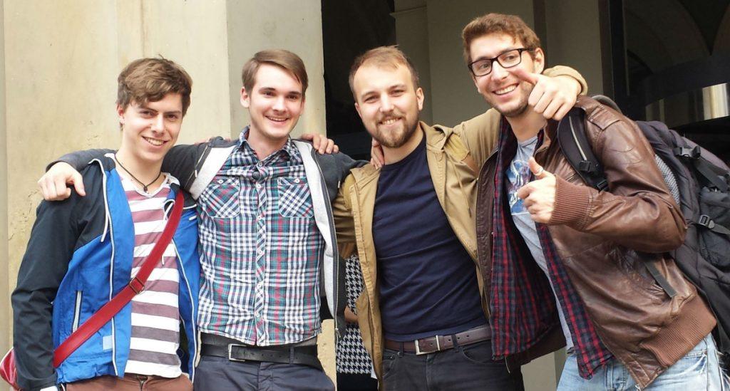 Die Gründer von Mooneye Studios: Tobias Graff, Matthias Oberprieler, Maximilian Jasionowski und Pascal Müller.