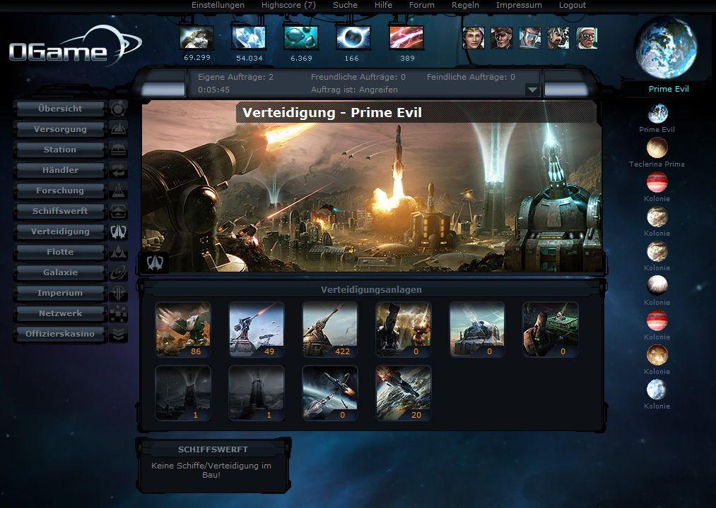 Der Gameforge- Browsergames-Klassiker oGame ist seit 2002 in Betrieb.