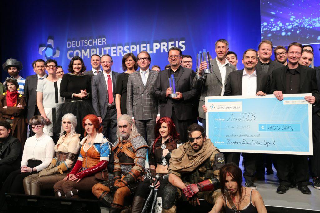 Die Sieger des Deutschen Computerspielpreises 2016 (Foto: Gisela Schober/Getty Images)