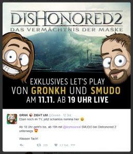 Mit diesem Tweet kündigte Gronkh den Event an.