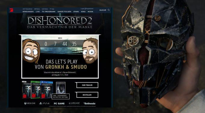 Bethesda, Gronkh und Smudo kooperieren für Dishonored 2.