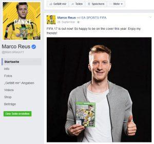 Bei Promis wie BVB-Star Marco Reus ist keine Kennzeichnung bezahlter Beiträge erforderlich.