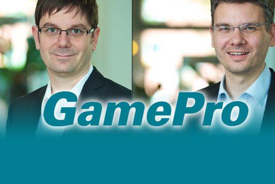 GamePro-Chefredakteur Heiko Klinge und René Heuser