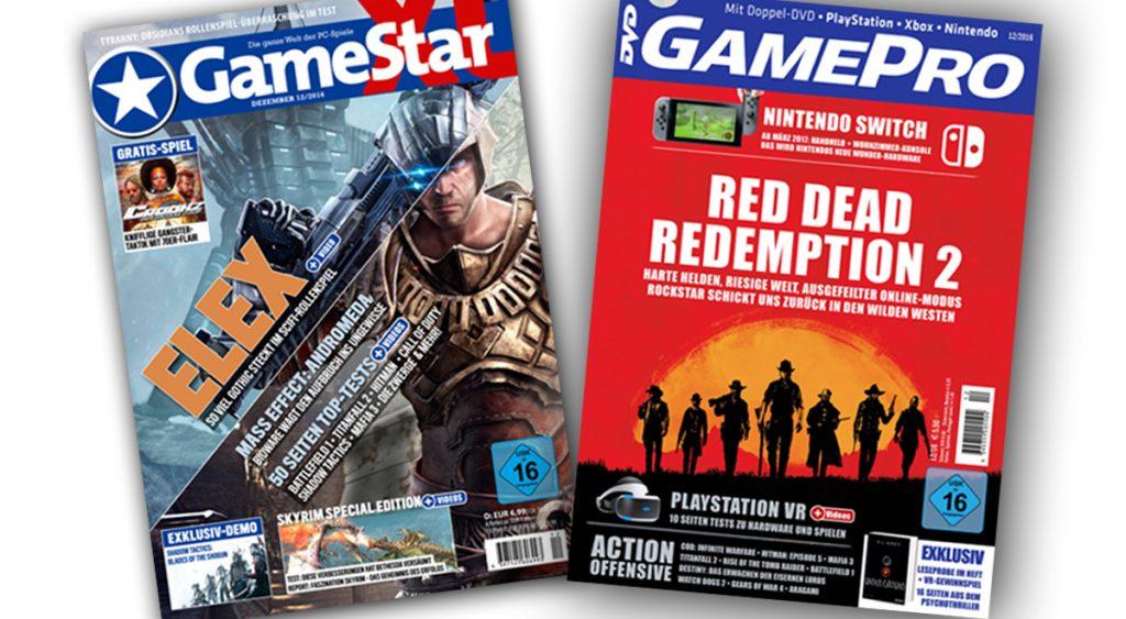 Das PC-Spielemagazin GameStar ist seit 1997 auf dem Markt, die Konsolen-Schwester GamePro seit 2002.