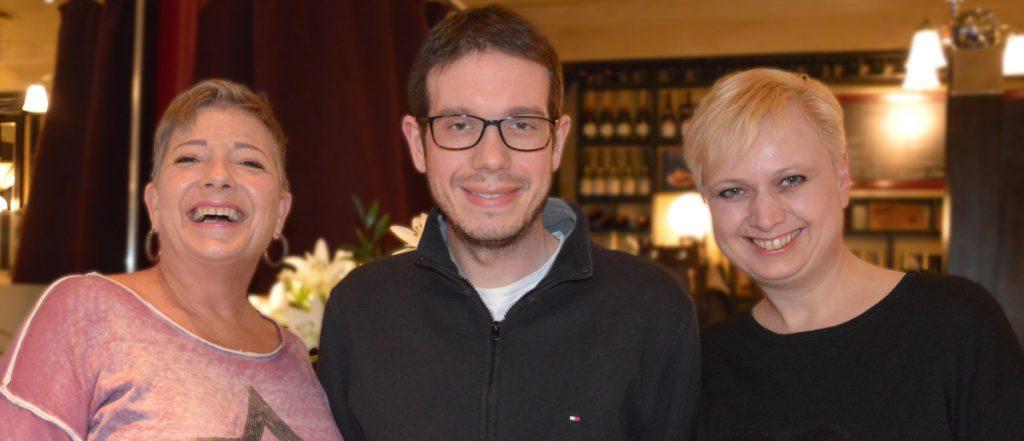 Christiane Gehrke, Marc Kamps und Svenja Bhatty (von links) führen die Arbeit von Gaming-Aid fort.