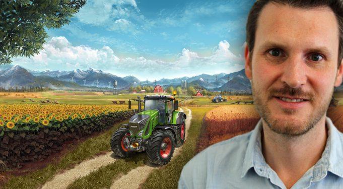 Er ist bei GIANTS Software für das Marketing beim Landwirtschafts-Simulator 2017 zuständig: Martin Rabl.