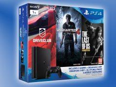 Das PlayStation 4 Uncharted 4 Bundle enthält neben der 1-TB-PlayStation 4 Slim auch noch zwei weitere Spiele.