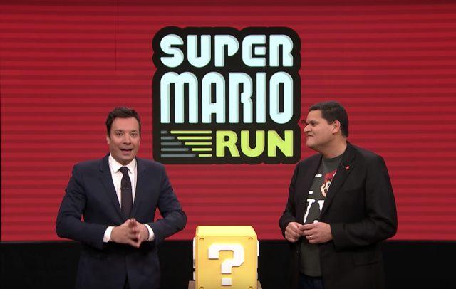 Jimmy Fallon testet in seiner Tonight-Show sowohl Super Mario Run als auch die Nintendo Switch.