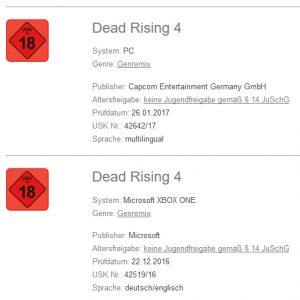 Ergebnis des Appelationsverfahrens: Dead Rising 4 behält seine USK-18-Freigabe.