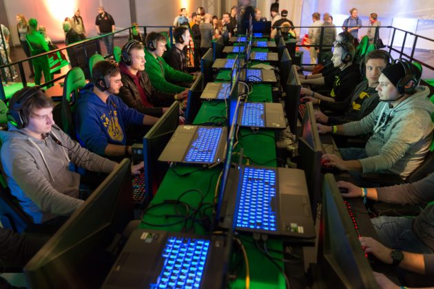 Mittelpunkt der Dreamhack 2017: An der LAN-Party beteiligten sich 1.500 Fans (Foto: Leipziger Messe / Tom Schulze)