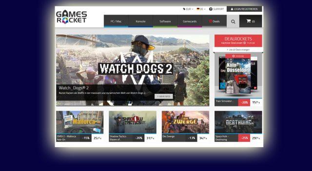 Noch bis Ende Januar bleibt der Gamesrocket-Shop geöffnet.