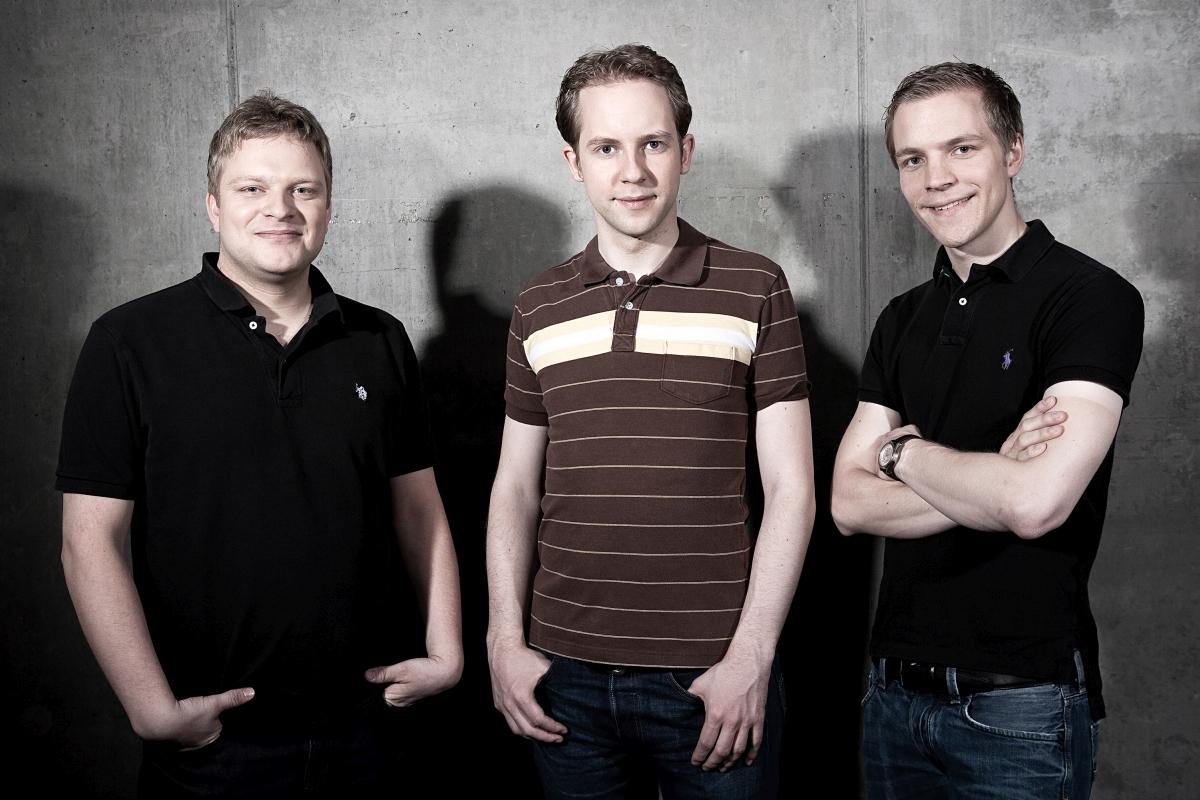 Die drei Innogames-Gründer: Michael Zillmer (COO), Hendrik Klindworth (CEO) und Eike Klindworth.
