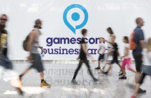 Der BIU Gemeinschaftsstand wird in Halle 3.2 der Gamescom 2017 aufgebaut (Foto: KoelnMesse / Harald Fleissner)