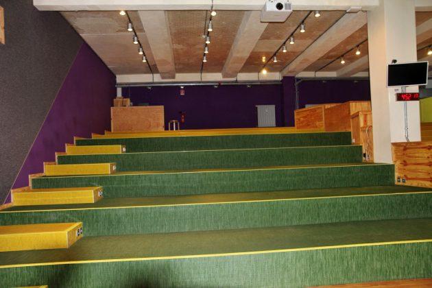 Im Auditorium finden Vorträge und Firmen-Meetings statt.