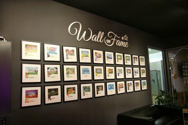 """Die """"Wall of Fame"""" würdigt nicht nur Erfolge, sondern auch eingestellte Projekte."""