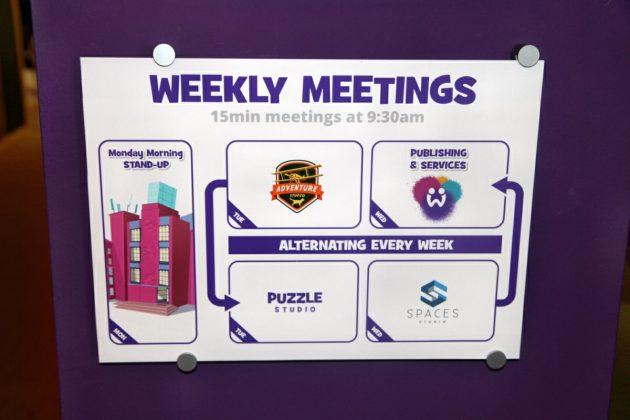 Teilnahme freiwillig, aber gut besucht: Studios und Geschäftsführung informieren allwöchentlich über aktuelle Projekte und Entwicklungen.