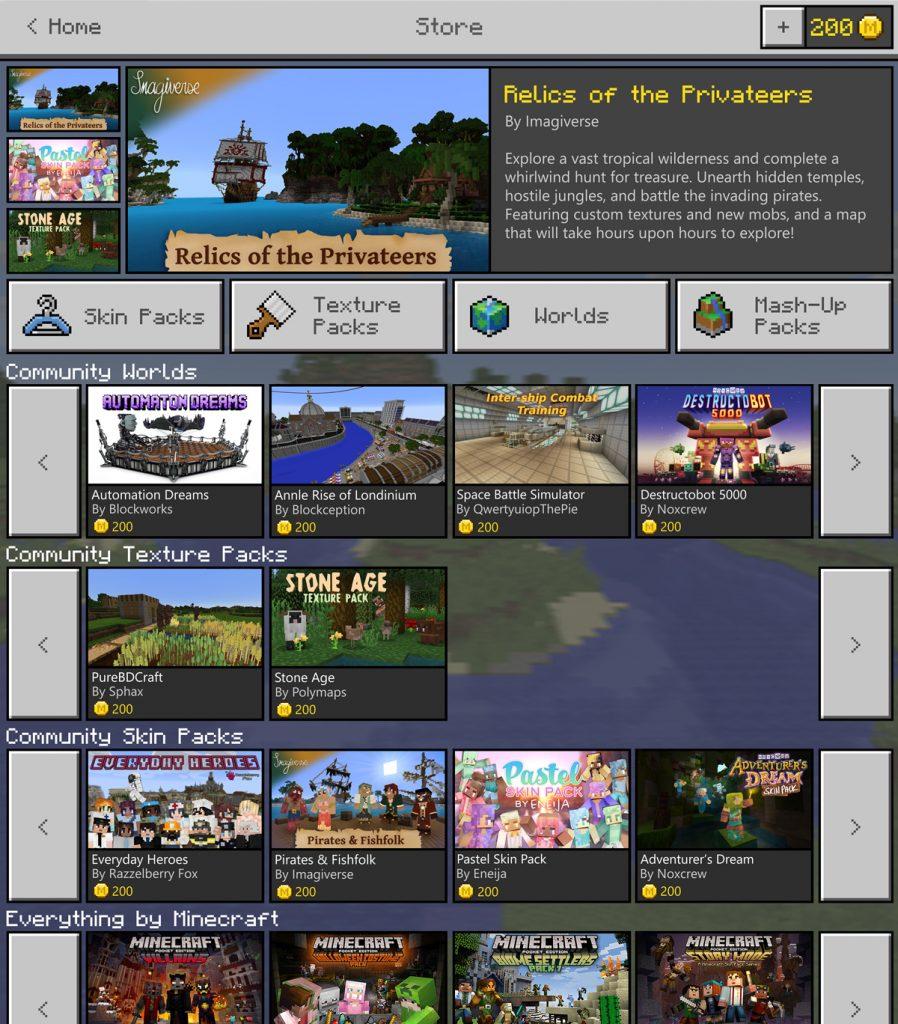 """Mit der virtuellen Währung """"Minecraft Coins"""" kaufen die Fans im Minecraft Market Place ein."""