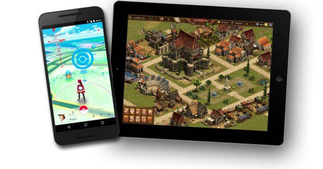 Zwei der erfolgreichsten Free2play-Apps 2016: Pokémon Go und Forge of Empires.