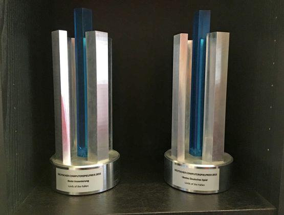 """Ausgezeichnet: Für """"Lords of the Fallen"""" gab es 2015 gleich zwei Trophäen beim Deutschen Computerspielpreis."""