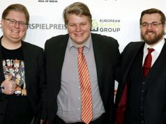 Drei Fünftel von PietSmiet beim Deutschen Computerspielpreis 2017: Peter Smits, Dennis Brammen und Christian Stachelhaus (Foto: Franziska Krug/Getty Images)