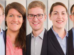 Von links nach rechts: Dr. Christian-Henner Hentsch (Leiter Recht und Regulierung), Christine Schulze-Grotkopp (Leitung Politische Kommunikation), Sebastian Broch (Referent Politische Kommunikation), Sabine Saeidy-Nory (PR-Referentin) und Martin Puppe (Leiter Presse- und Öffentlichkeitsarbeit)
