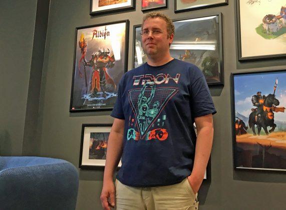 """Stefan Wiezorek ist Geschäftsführer und Gründer von Sandbox Interactive und einer der Väter von """"Albion Online""""."""
