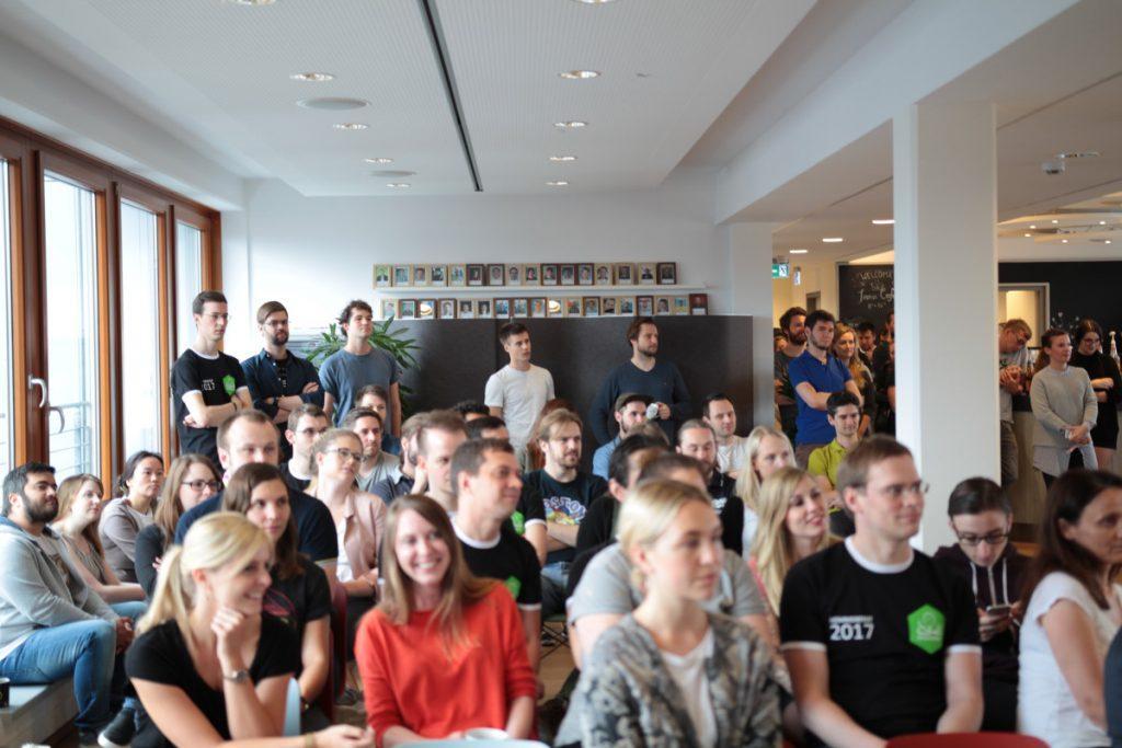 Teile der Belegschaft beim Festakt zum InnoGames-Jubiläum