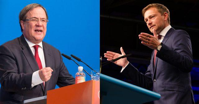 CDU-Landeschef Armin Laschet und FDP-Parteivorsitzender Christian Lindner haben heute den NRW-Koalitionsvertrag vorgestellt (Foto: CDU/FDP)