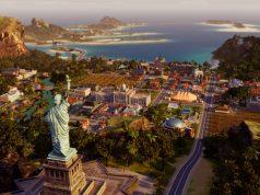 """Szene aus der Alpha-Version von """"Tropico 6""""."""