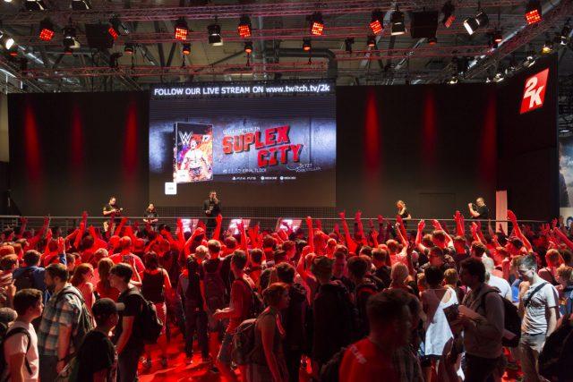 Anders als in den Vorjahren (hier der Auftritt von 2016) gehört 2K Games nicht zu den Ausstellern der Gamescom 2017 (Foto: KoelnMesse / Harald Fleissner)