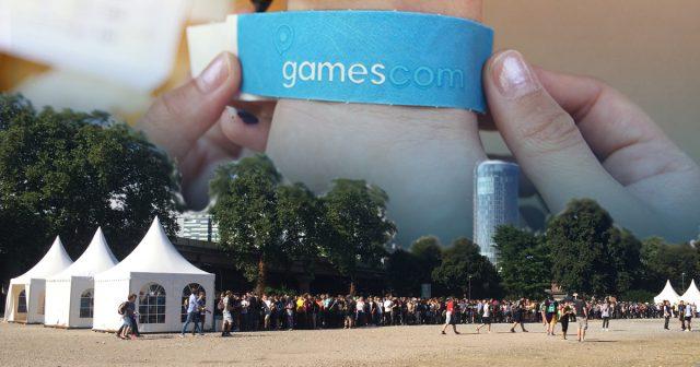 Die Gamescom-Altersbändchen gibt es in den Zelten, die vor allen Eingängen aufgebaut sind (Foto: KoelnMesse).