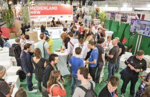 """Das """"Medienland NRW"""" ist auch auf der Gamescom 2017 mit einem eigenen Gemeinschaftsstand vertreten."""