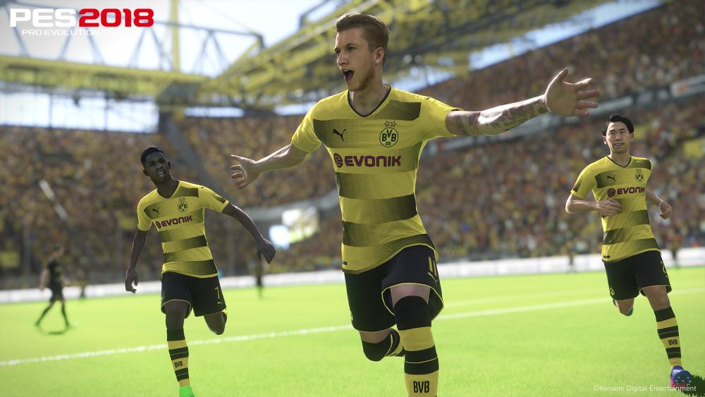 """Konami hat für das hauseigene Fußballspiel """"Pro Evolution Soccer"""" einen Mehrjahresvertrag mit dem Dortmunder BVB abgeschlossen (Abbildung: Konami)"""