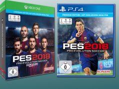 """Luis Suaréz und seine Kollegen vom FC Barcelona werben für """"PES 2018"""""""