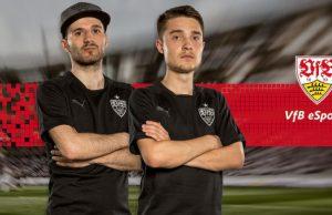 """Erhan Kayman (""""Dr. Erhano"""") und Marcel Lutz (""""Marlut"""") treten für die eSports-Abteilung des VfB Stuttgart an."""