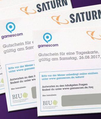 Die Saturn-Märkte verkaufen Gutschein-Codes für Gamescom-Tickets. Besonders begehrt: der Gamescom-Samstag.