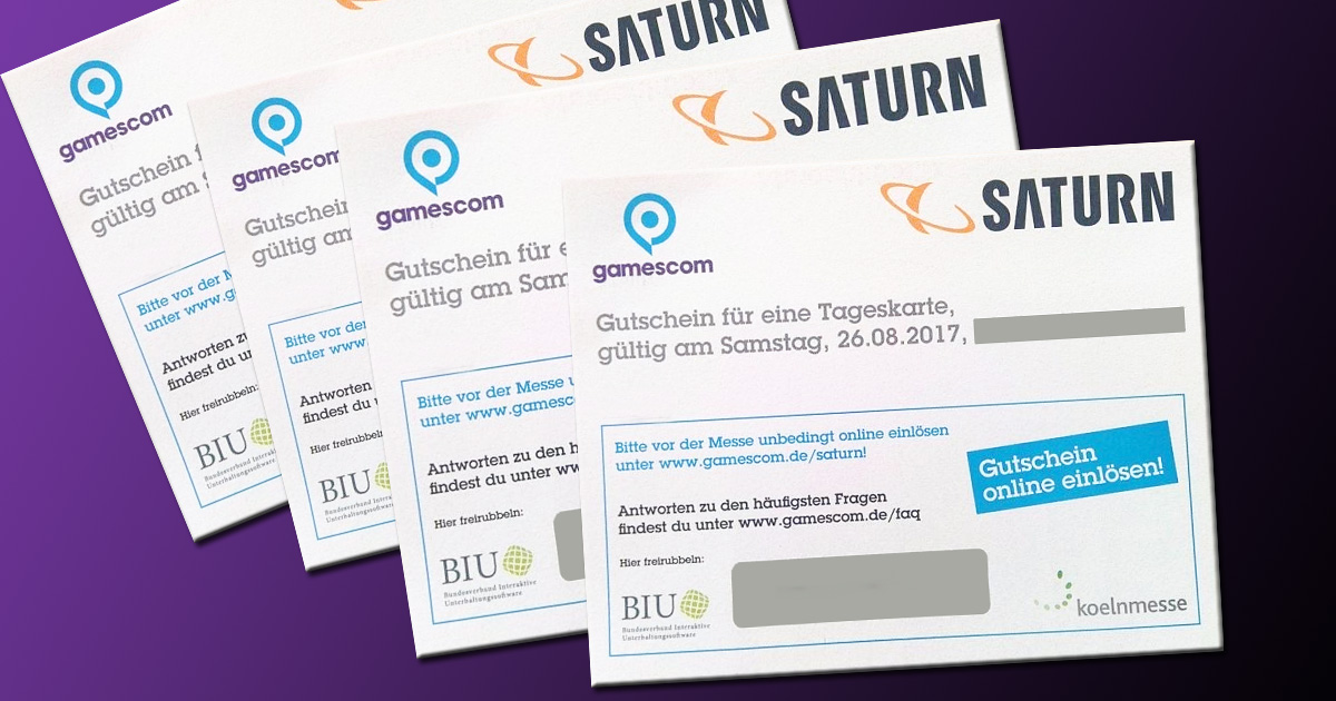 Gamescom Tickets Personalisiert Verkaufen